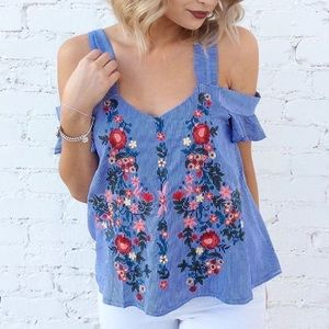 Tops - Embroidered Spring Top